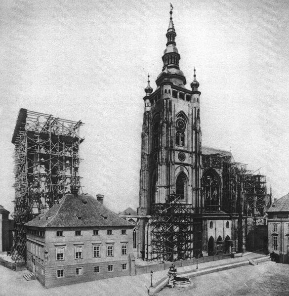 Katedrála sv. Víta někdy kolem roku 1887